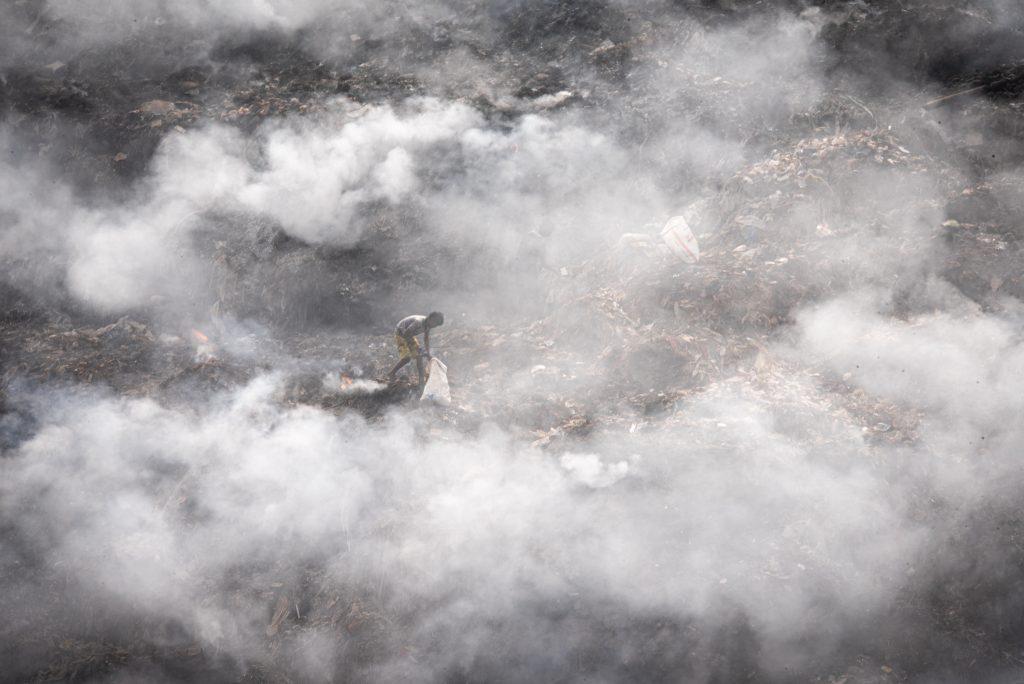 Indian Scavenger at the Garbage Dump